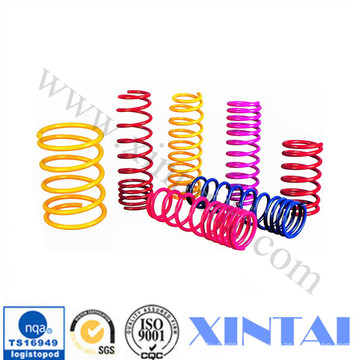 Large Stainless Steel Compression Spring With Red Spray Paint