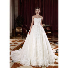 ZM16027 Latest White Wedding Dress A-line Sexy Women Dress New Designer Wedding Gown Train Bridal Dress Online