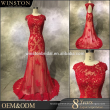 2016 New Fashion Real Photo beaded sweetheart backless vestidos de noite com inspiração asiática
