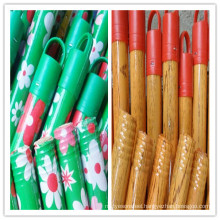 PVC coated metal broom handle with Italy/American thread(MP-SP)