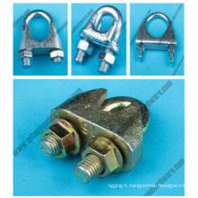 Fournisseur de factroy gréement circlip de câbles d'acier Galv malléable u. s.
