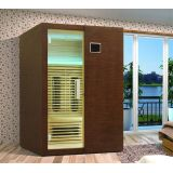 Solid Wood 2 Person Infrared Sauna Room For Family To Relax Tired