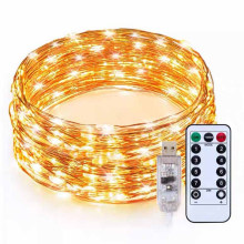 Hot sale 100L 33FT mini led string decorative waterproof Christmas outdoor copper solar powered garden holiday fairy light