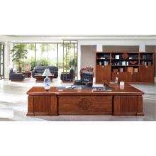 Schreibtisch Amerikanisch Klassisch Furnierter Holz Chef Schreibtisch