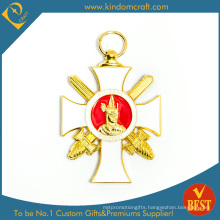 Cheap Customized 3 D Enamel Souvenir Gold Metal Medal in High Quality From China