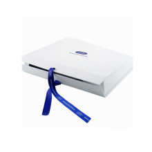 Customized White Folding Paper Gift Box Dengan Pita
