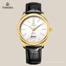 Neue neueste beliebte Quarz Business Watch mit schwarzem Leder 72130