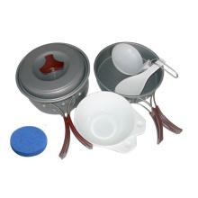 Juego de utensilios de cocina de aluminio anodizado