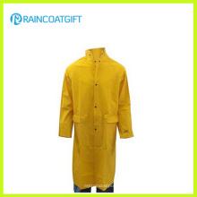Wasserdichten PVC-Polyester-Men′s-Regenbekleidung