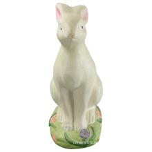 Arte de porcelana en forma de animal, conejo de cerámica