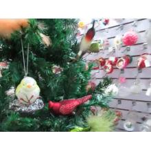 Adorno navideño de vidrio con forma de pájaro para la venta