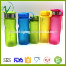Botella de agua plástica transparente transparente del grado de la categoría del alimento de PCTG para beber