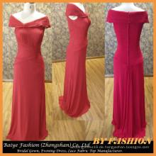 Damen-lange Abend-Partei-Abnutzungs-Kleid-Chiffon- rotes Abend-Kleid BYE-14086