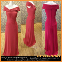 Ladies Long Evening Party Wear Gown Chiffon Red Evening Dress BYE-14086