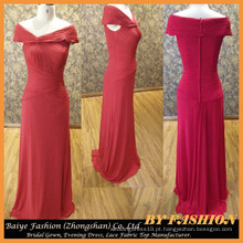 Ladies Long Evening Party Wear Vestido Chiffon vestido de noite vermelho BYE-14086