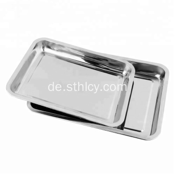 Edelstahl Buffet Food Serving Tray Silberplatte