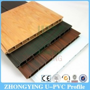 Wood grain Co-extrusion Pvc building plastic profiles for casement window
