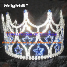 Wholesale Blue Star Crystal Queen Crowns