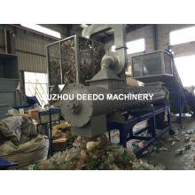 Máquina de reciclagem de removedor de rótulos de tampas de garrafas Pet
