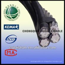 Grid del estado XLPE aisló el cable aéreo del paquete (ABC)