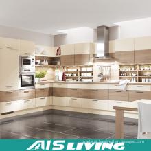 L em forma de móveis de madeira armários de cozinha (AIS-K297)