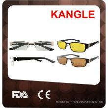 montures de lunettes avec clip