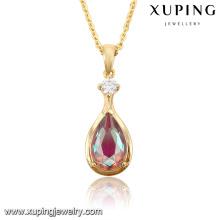 32685-korean fashion jewelry 18k gold druzy pendant crystal
