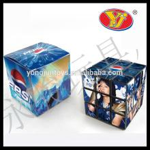 5.5cm 5.6cm cubo quadrado mágico promocional feito sob encomenda do oem do plástico