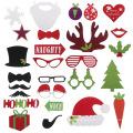 FQ marca festa de natal Engraçado Máscara Foto cabine adereços barba adereços