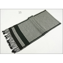 Men′s Womens Unisex Reversible Cashmere Feel Winter Warm Checked Diamond Printing Thick Knitted Woven Scarf (SP817)