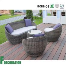 Revestimento plástico de madeira exterior impermeável do decking do composto WPC para a decoração do jardim