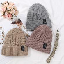 Chapéus de malha premium de lã, chapéu de inverno para mulheres