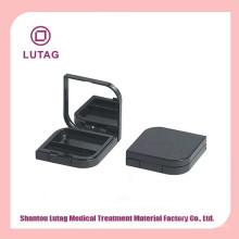 Envases pequeños casos negro caja de sombra de ojos en polvo