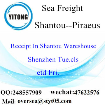 Shantou Port LCL Consolidation To Pireo