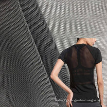 polyester elastane soft quick dry knitting 4 way stretch mesh fabric for activewear