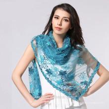 Bufanda de seda 2015 de la bufanda de la bufanda verano femenino y bufanda de seda de las bufandas del cabo del aire acondicionado del diseño de la bufanda del todo-