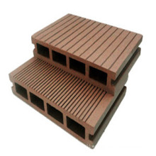 Anti-Crack Outdoor Hollow WPC Decking with Euro-Standard