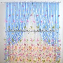 Rideaux transparents en dentelle papillon