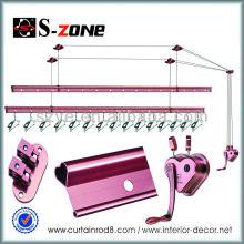 SZ12-03 Cobre ropa racks de pie libre sobre ruedas soluciones de almacenamiento para comprar tienda de ropa