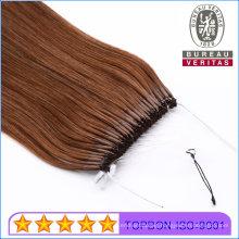 Brazilian Human Virgin Hair Grade Natural Long Knot Thread Hair Extension Easy Pull Style Hair
