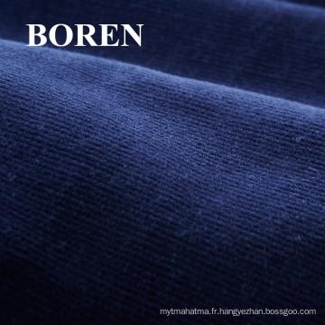 100% coton 21 Cotton Cotton Spandex Stretch Tissu en velours côtelé