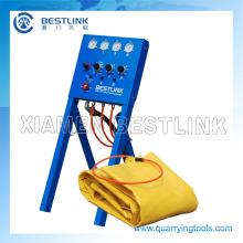 Bestlink empurrando o Air-Bag para corte de pedra