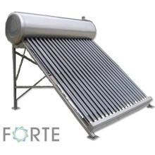 Chauffe-eau solaire thermique à basse pression en acier inoxydable