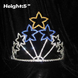 5in Crystal Star Shaped Unique Crowns