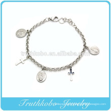 TKB-B0066 Silver Catholic First Holy Communion Bracelet Jewelry