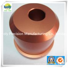 Parte de cobre fazendo à máquina feita-à-medida do CNC