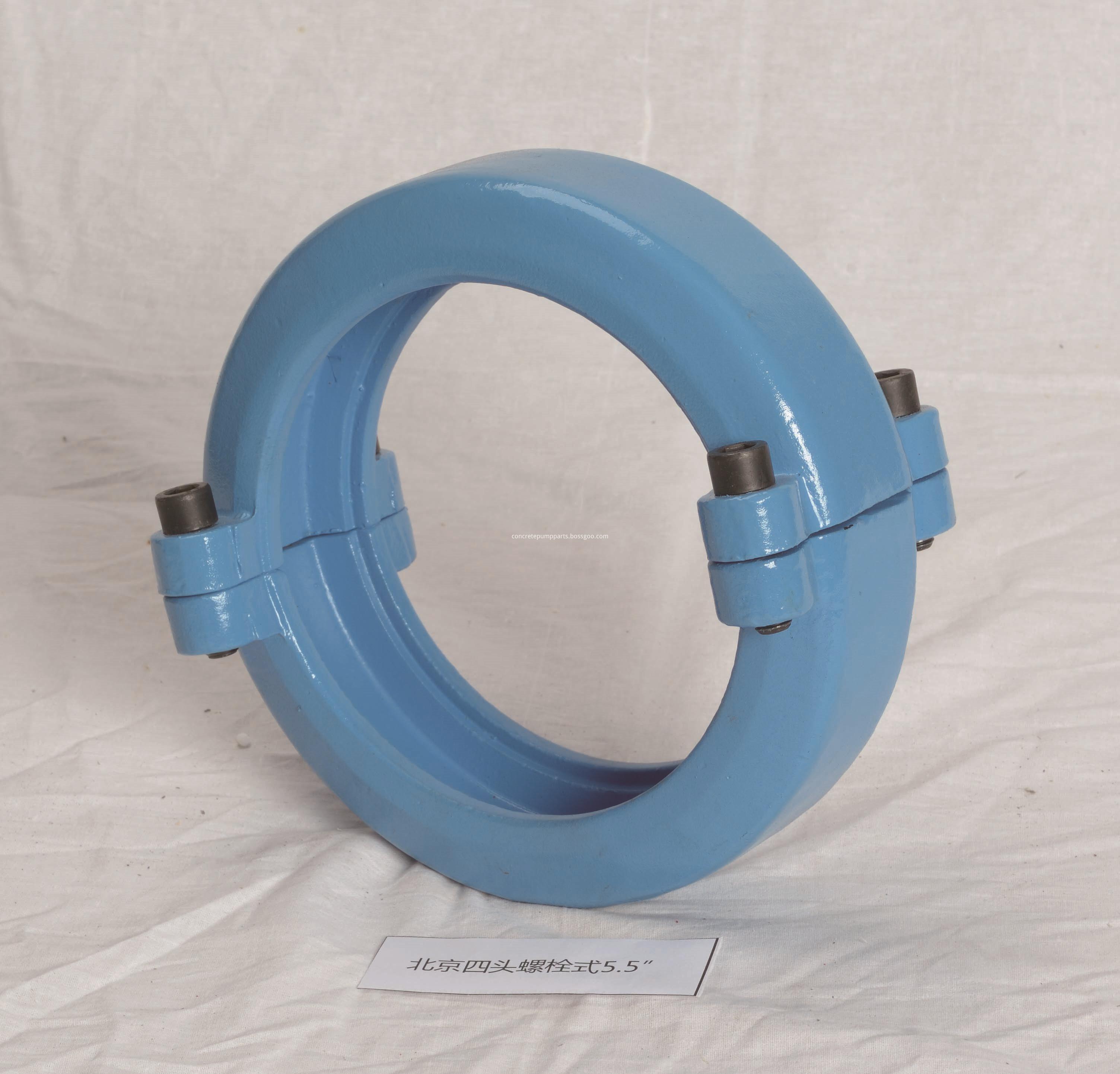 concrete pump four bolts clamp
