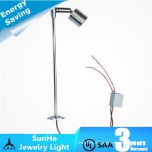 Alumínio triplo de 12v 24v alumínio 3 * 1W ajustável iluminação de exibição de exibição de jóias