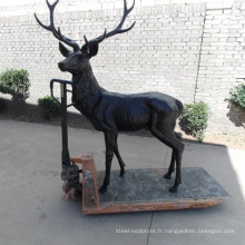 moderne jardin sculpture métal artisanat bronze cerf statue de laiton