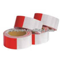 Cinta reflexiva de evidencia, rojo/blanco cintas reflectantes para vehículos